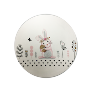 ROUND BUNNY PLATE