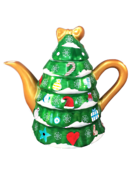 CERAMIC CHRISTMAS TREE POT - GREEN BASE