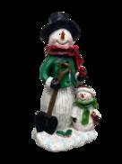 STANDING SNOWMAN AND SNOWCHILD