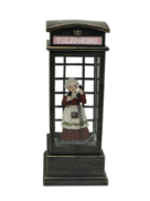 MRS CLAUSE IN BLACK PHONE BOX
