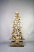 40CMH CARVED WOOD TREE WITH GOLD GILT COVERING