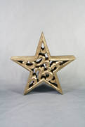 17CMH CARVED WOOD STAR WITH GOLD GILT COVERING