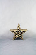 12CMH CARVED WOOD STAR WITH GOLD GILT COVERING