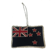 HAND EMBROIDERED NZ FLAG