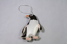 HAND EMBROIDERED PENGUIN (2)