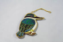 HAND EMBROIDERED KINGFISHER (2)
