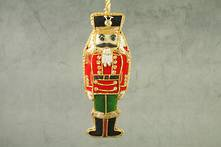 HAND EMBROIDERED VELVET AND BEAD NUTCRACKER (2)