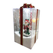 SANTA SNOWING GIFT BOX