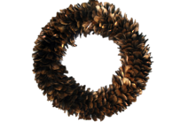 45CMD GOLD FEATHER WREATH