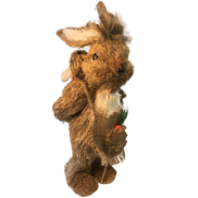NATURAL STRAW BUNNY WITH BABY ON BACK