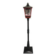 RED GREEN SNOWING LANTERN WITH SWING
