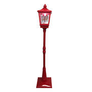 RED STREET LAMP WITH CAROUSEL