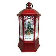METALLIC RED SNOWING CLASSICAL LANTERN