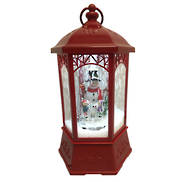 RED SNOWING CLASSICAL LANTERN