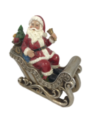SANTA IN SLEIGH RESIN
