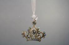 ZINC AND DIAMANTE CROWN HANGER (6)