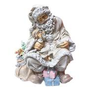 PASTEL SANTA WITH CHILD ON KNEE