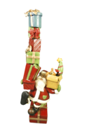 RESIN SANTA WITH PRESENT STACK