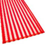 RED FLOCKED STRIPED ORGANZA TABLE RUNNER (4)