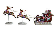 SANTA SLEIGH WITH 2 FLYING DEER