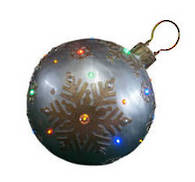 CHAMPAGNE WHITE LED BAUBLE