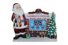 SANTA CHIMNEY CHRISTMAS COUNTDOWN LED AND MUSIC