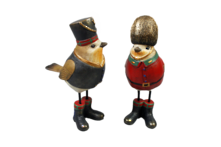 PAIR HATTED ROBINS RED & BLACK (2)