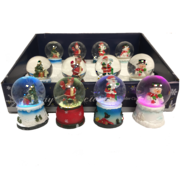 SET12 MINI WATERGLOBE WITH LED LIGHT