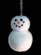 2 BALL SNOWMAN HANGING ORNAMENT (12)
