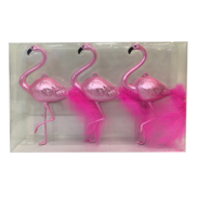 SET3 BLUSH PINK PLASTIC FLAMINGO HANGERS