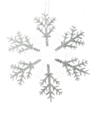 30CMD CLEAR/SILVER ACRYLIC SNOWFLAKE (12)