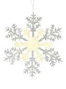 25CMD CLEAR/GOLD ACRYLIC SNOWFLAKE (12)