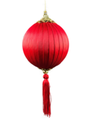 RED SILK AND TASSEL BALL HANGER (12)