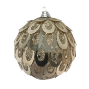 CHAMPAGNE OVAL SEQUIN BALL HANGER (12)