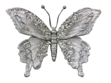 SILVER BUTTERFLY WITH CLIP (6)
