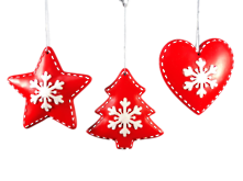 SET3 RESIN RED WHITE HANGERS (12)