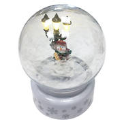 WHITE BLOWING SNOWGLOBE TREE