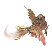 SET 6 ROSE GOLD FEATHER BIRD ON CLIP