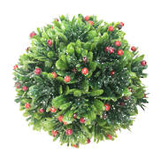 10CMD RED/GREEN FLORAL BALL (6)