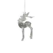 HEAD UP DEER HANGER WITH WHITE FEATHERS (12)