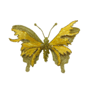 17.5CMW GOLD/GOLD BUTTERFLY ON CLIP