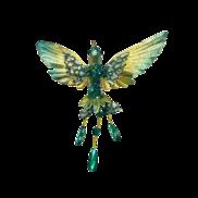 20CMW GREEN/GOLD HUMMINGBIRD ON CLIP
