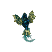 20CMW AQUA/GOLD BIRD ON CLIP (12)