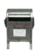 GALVANISED LETTERS TO SANTA MAILBOX - LAST ONE
