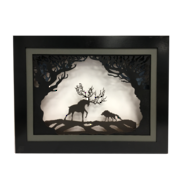 STAG AND WOODLAND LIGHT UP SCENE