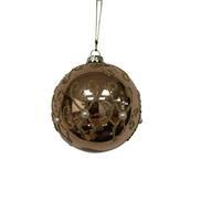 BLUSH AND GOLD SWIRL GLASS BALL (12)