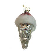 WHITE GLASS SANTA HANGER (12)