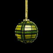 GREEN TARTAN GLASS BALL (12)