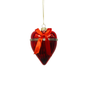 RED WITH RIBBON GLASS OPENABLE HEART (6)