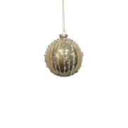 GOLD BALL WITH SILVER GEMS (12)